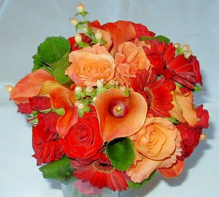 Analogous Colors Red And Orange Bouquet Color
