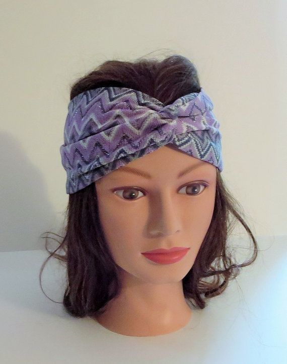 Purple Missoni Sparkly Twisted Knit Turband Stretchy by TiStephani, $18.00