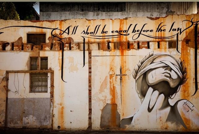 Street Art by Faith47 from Cape Town / South Africa all shall be equal before the law