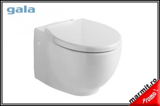 wc suspendat Klea, wc suspendat cu capac, wc suspendat compact, wc suspendat portelan
