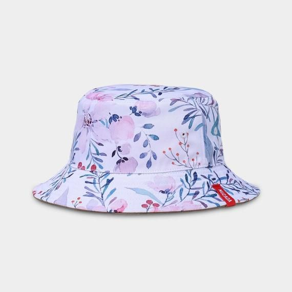 huge selection of f481f cfe8c ... Baseball cap by nuzada. Watercolor Floral Fisherman Hap double layer  two-sided  DoubleLayer  TwoSides  pattern