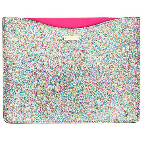 Kate Spade Glitterball iPad Sleeve. Holy Moly I want this!!!