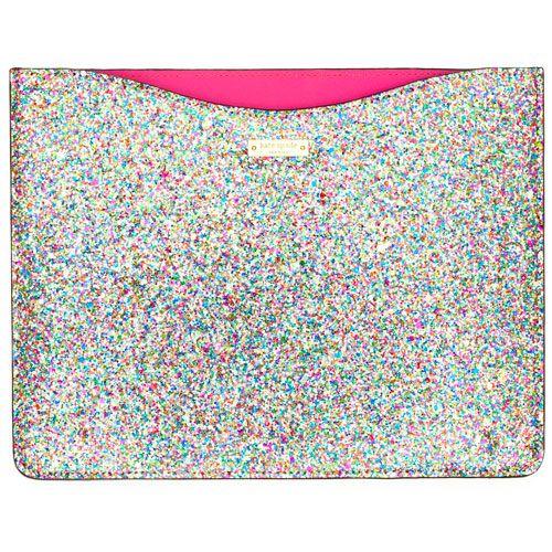 Kate Spade Glitterball iPad Sleeve. If I had an iPad