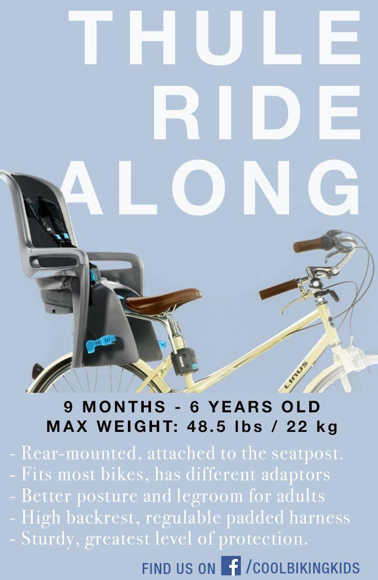 Yepp maxi child bike seat review - Best baby kid bike seat selection for safe family rides - Cool Biking Kids - http://www.coolbikingkids.com/blog/thule-ridealong/