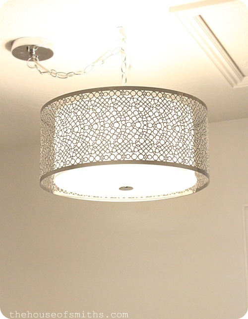 Drum Shade lighting from Lowes