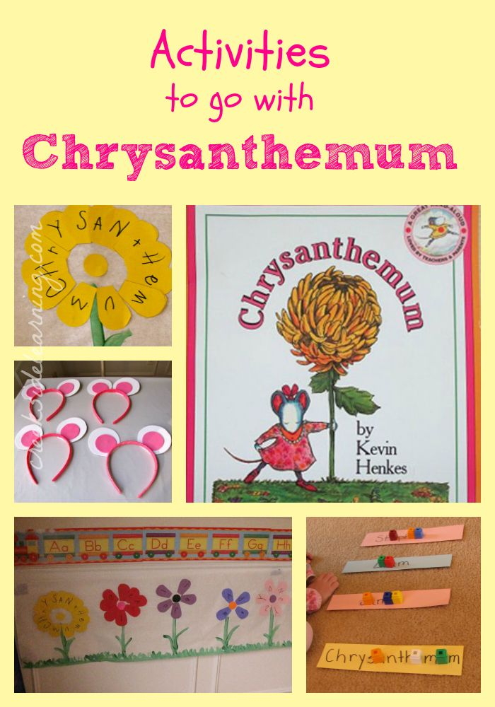Clever image with chrysanthemum free printable activities