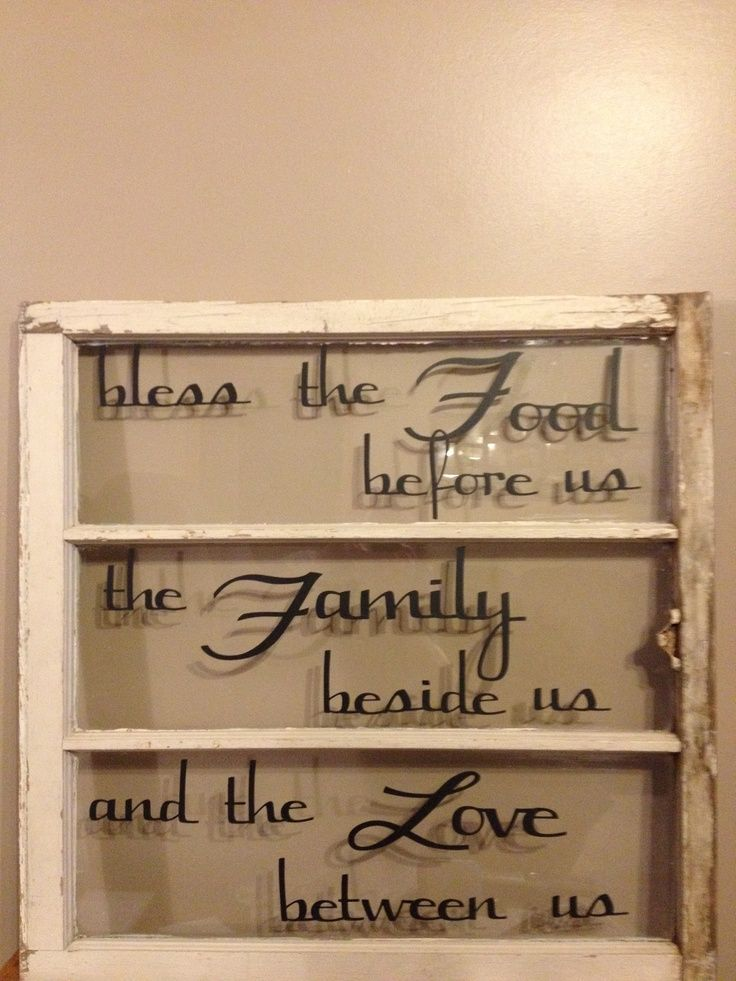 Antique Windows with Vinyl Quotes | Old window and vinyl letters cut with Cricut | For the Home