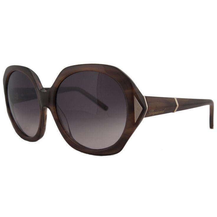 DSquared DQ 0111 45T Tortoise Round Full Rim Sunglasses