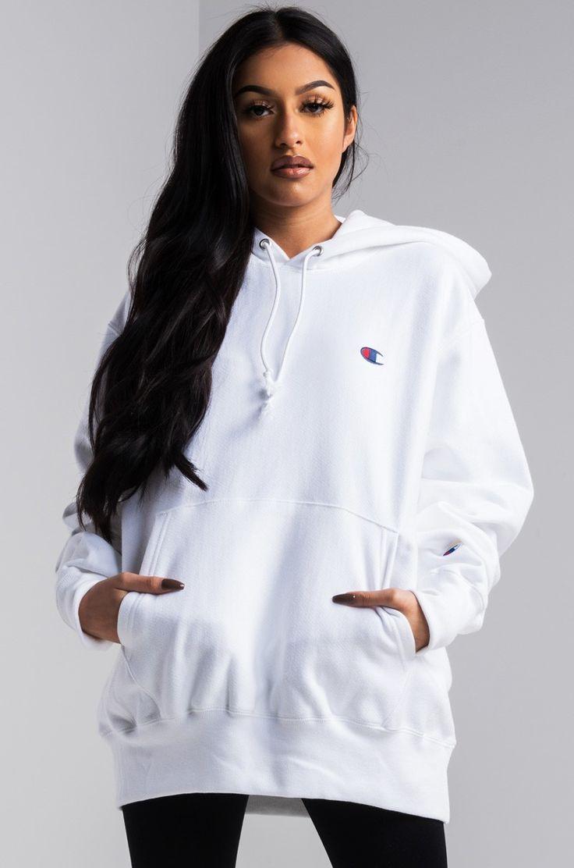 Champion Women S Reverse Weave Pullover Hoodie White Hoodie Women White Champion Hoodie Women Pullover [ 1112 x 736 Pixel ]