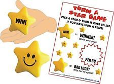 Squeezy Stress Star Game, Party Game,  Stall Game, PTA School Fundraising Game,