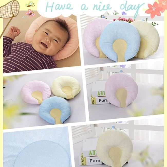 Newborn Baby Sleep Positioner Support Pillow Infant Cushion Prevent Flat Head W #Unbranded