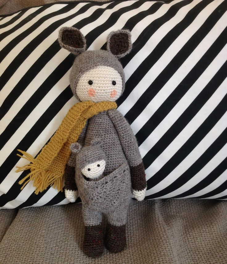 KIRA the kangaroo made by Simone M. / crochet pattern by lalylala