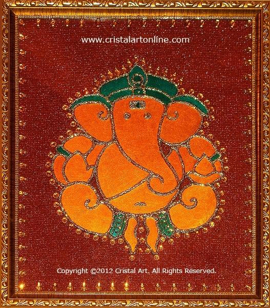 Cristal Art Blog: Ganesha: Design 4 - Glass Painting by CristalArt