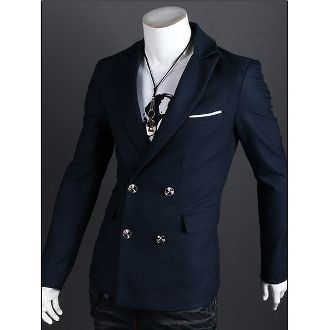 Mens Double Breasted Blazer with Pocket Details