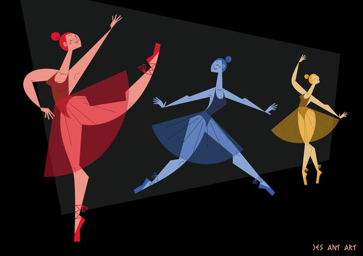 Ballerine by JesAntArt  #classical_ballet #dancers #choreography #illustration