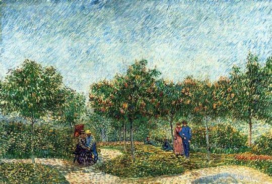 Den Voyer D'Argenson Park i Asnieres 1887    Vincent van Gogh