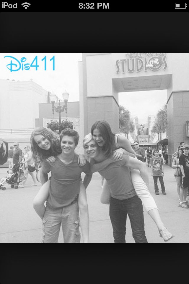 Kelli burglund and billy unger,  and Ross Lynch and Maia Mitchell