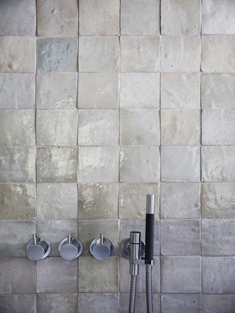 Inspiration for your bathroom | 50 shades of grey #CPHart50shades  Handshower via CP hart - There's like no grout.