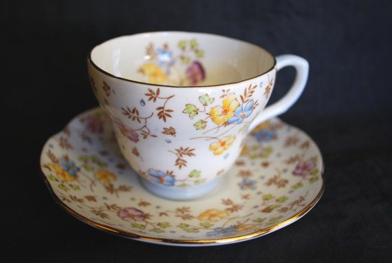 Tea Cup and Saucer from England and made by by Dupasseaupresent