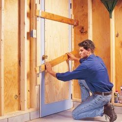 Home defense - A double sliding 2x4 barricade is great for those side and back doors you seldom use.