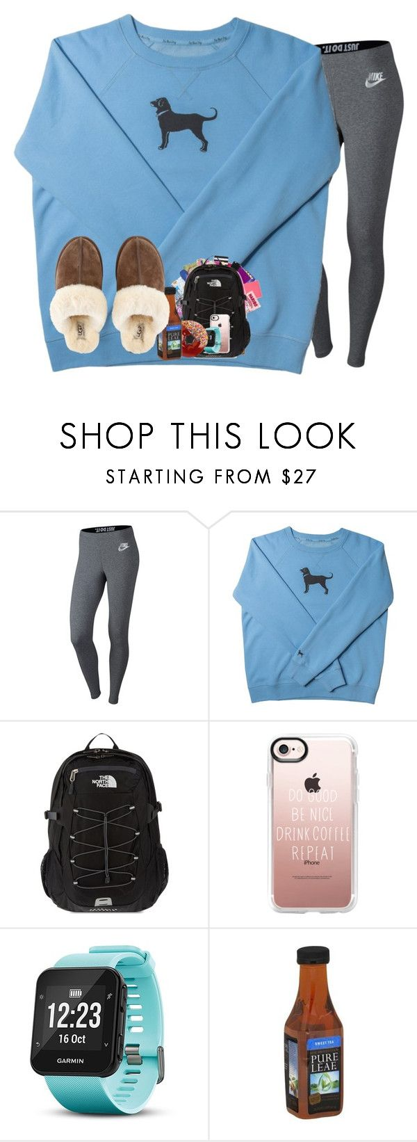 """""""ootn + rtd"""" by rileykleiin ❤ liked on Polyvore featuring NIKE, The North Face, Casetify, Garmin and UGG"""