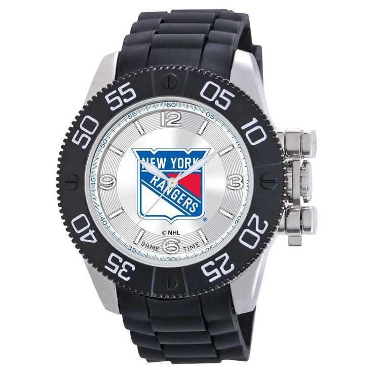 Men's NHL Game Time Philadelphia Flyers Beast Series Watch - Black, New York Rangers