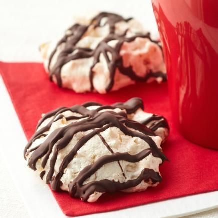 Chocolate-Dipped Coconut Macaroon Cookies: You can make these chewy cookies up to three months ahead of the holidays. Just freeze undipped cookies between waxed paper in an airtight container. When you're ready to serve them, thaw and then dip bottoms in melted chocolate.