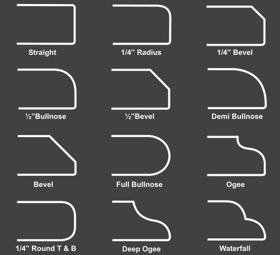 Counter tops _edge types http://www.wilsonart.com/homeowners/quartz/edge-options