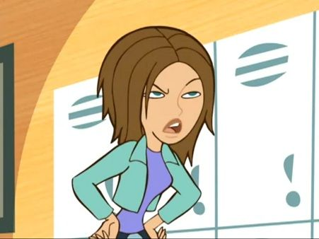 Bonnie Rockwaller is Kim Possible's Middleton High School cheerleader classmate, and her rival in almost every aspect. Bonnie is a brunette of average height with shoulder-length hair in a shag cut, teal eyes, a slender but curvaceous figure, and may be around 105-lb as stated by Kim when she and Bonnie were bonded together due to the effects of an invention by Professor Dementor. However, that could just have been an estimation on Kim's part.