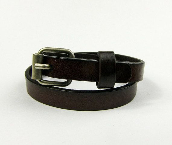 Double Wrap Genuine Leather Bracelet with Buckle by AltGoodDesign