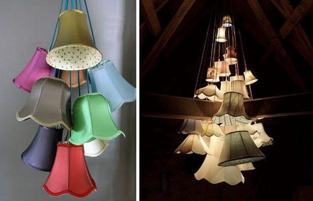 VINTAGE & CHIC: decoración vintage para tu casa [] vintage home decor: Una lámpara de techo original (y fácil de hacer) [] An original chandelier (and easy diy)