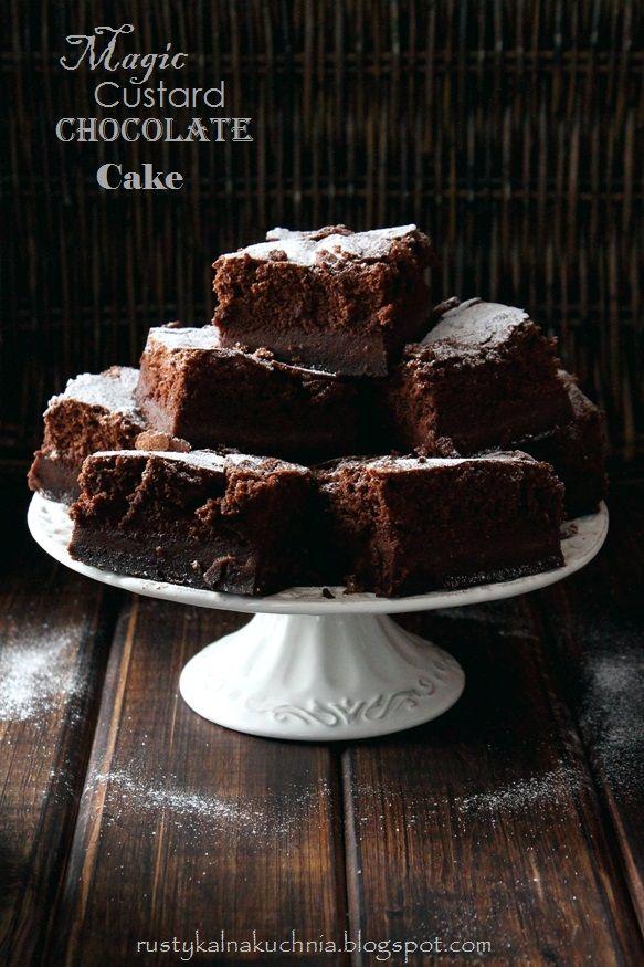 rustykalna kuchnia - cooking at home: Magic Chocolate Custard Cake