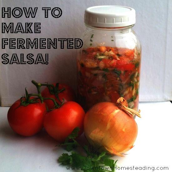 Lacto-Fermented Salsa Recipe  PRESERVE THOSE TOMATOES