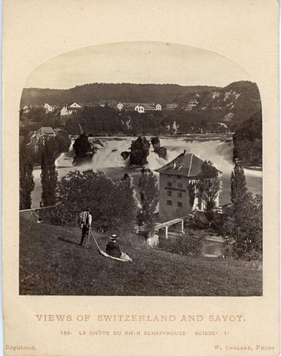 William England, Views of Switzerland and Savoy, La Chute du Rhin. Schaffhouse     #Europe #Suisse_Schweiz