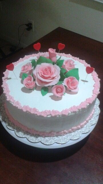 Pretty cake for Valentine's day