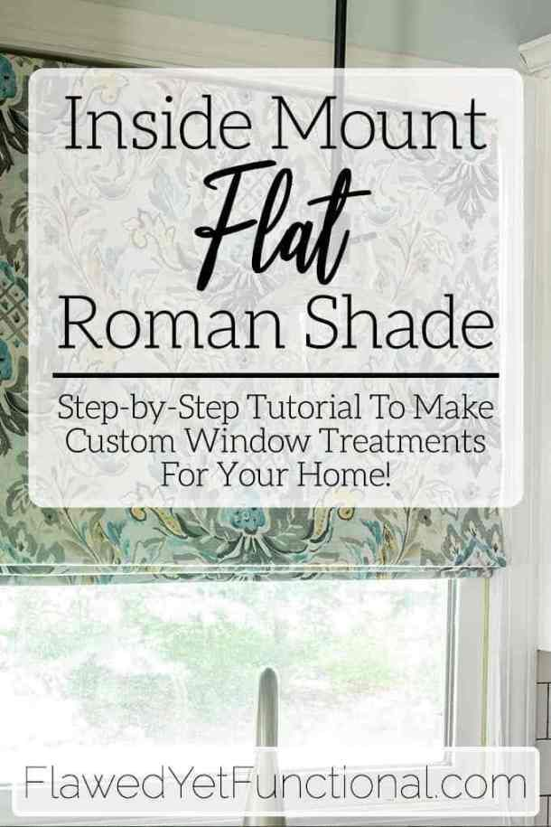 Learn how to make a custom-fit flat Roman shade for your home! With step-by-step…