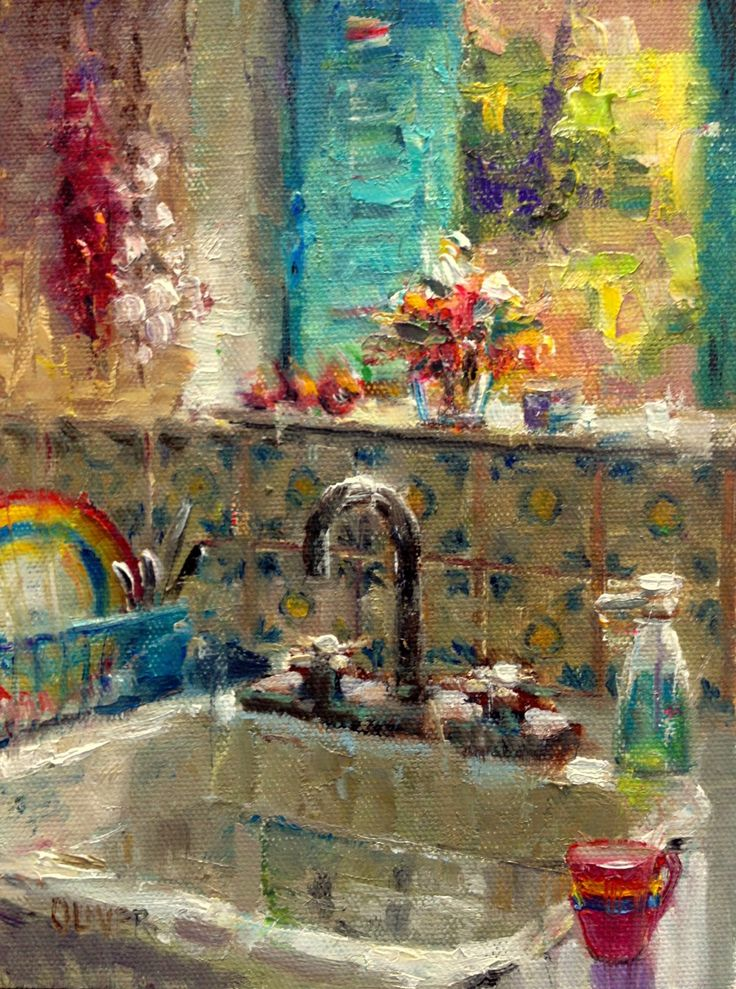 Art Talk - Julie Ford Oliver Fab Oil ...love this