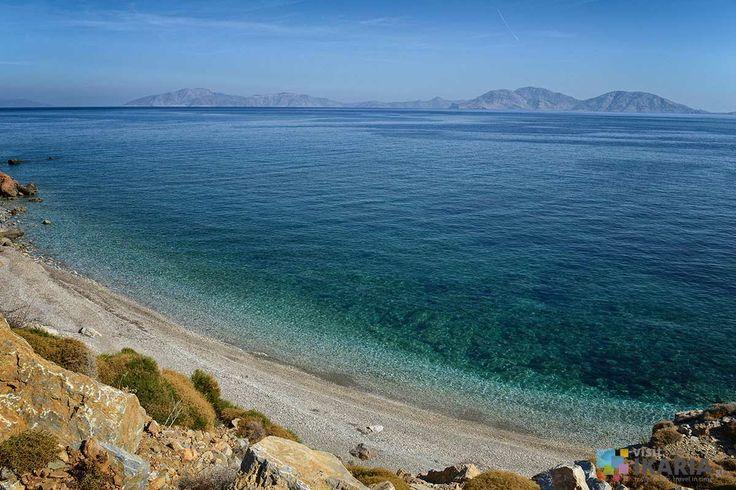 Anefandi beach in Ikaria. View to Fournoi island.