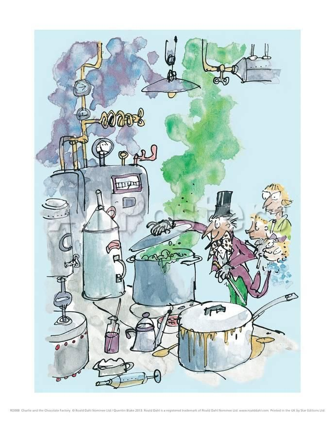 Charlie and the Chocolate Factory - Willy Wonka Prints by Quentin Blake - AllPosters.co.uk