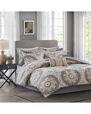 Amazing Deal on Madison Park Essentials Serenity 9-Piece King Comforter Set In Taupe