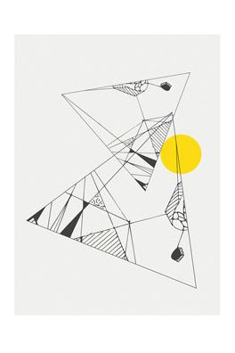 Abstract Triangle Print   #mooreaseal