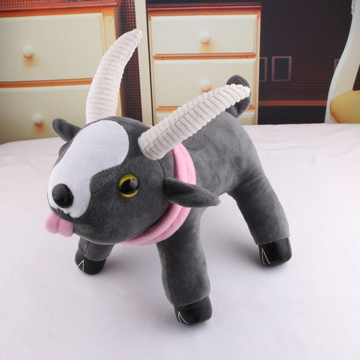 """10"""" Plush with Velcro Tounge Goat Simulator - Have you ever dreamed of what it would be like to have your own goat? Well dream no more! This floppy Goat Plush will melt your heart with its 3D eyes tha"""