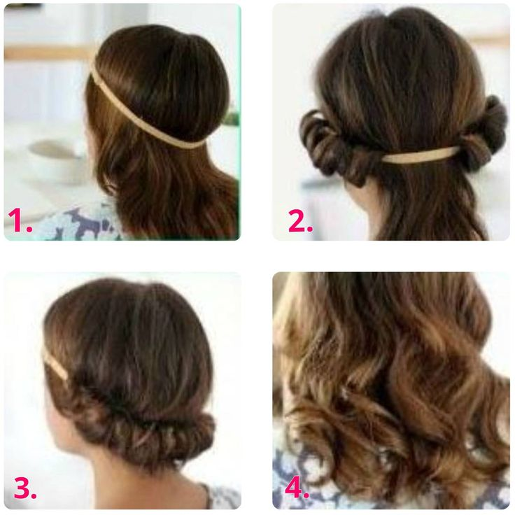 heatless headband curls, tis is for all my school friends who see that everyday that i come to school my hair is strait because i don't have enough tome to curl my hair in the morning, this is how my hair is curly some mornings. Hope this is helpful:)