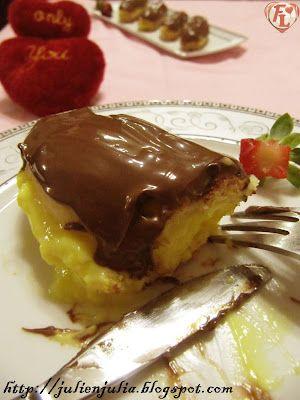 Nutella Chocolate Éclairs with Custard إكلير الكاسترد وشوكولاتة نوتيلا | Food Lover مطبخ جوليا العرب