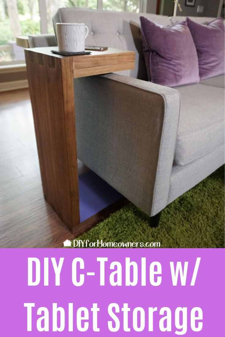 Build A Modern Sliding Sofa Side Table