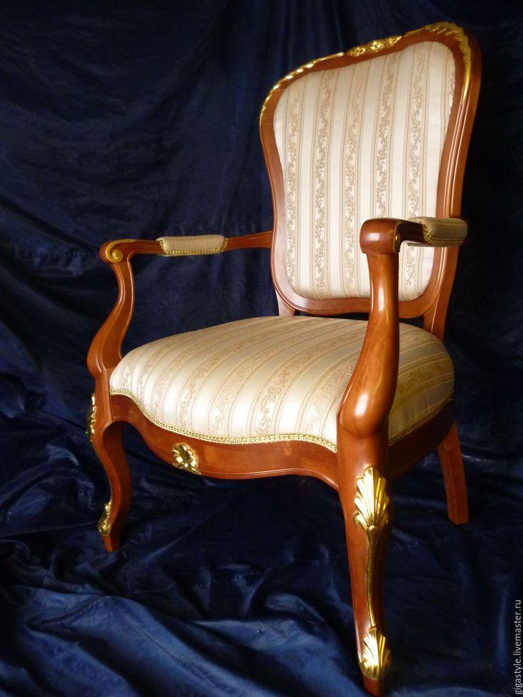 Купить Кресло резное - коричневый, кресло, резьба по дереву, кресла, мебель на заказ, мебель из дерева