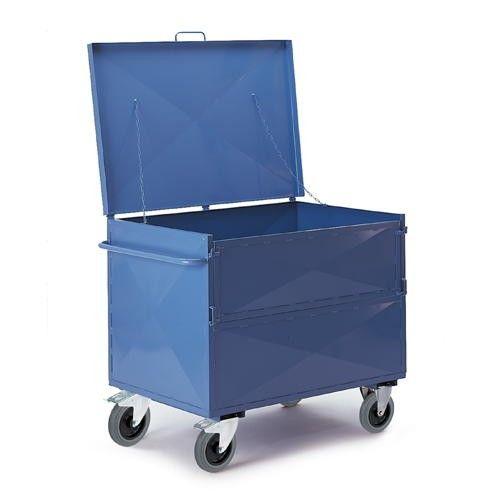GTARDO.DE:  Blechkastenwagen mit Deckel, Tragkraft 600 kg, Ladefläche 990x680 mm, Maße 1100x710 mm 506,00 €