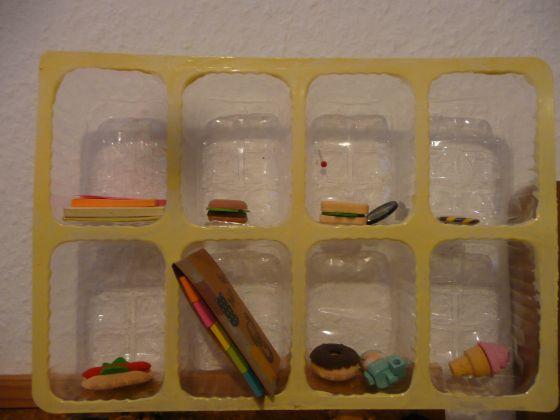 DIY snack container mini-shelf