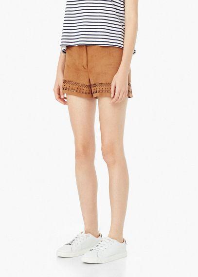 Shorts mit gestanzten motiven | MANGO
