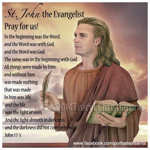 St. John the Evangelist, the beloved apostle.